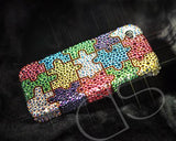 Pattern Color Puzzle Bling Swarovski Crystal Phone Cases - Colorful