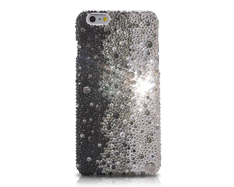 Gradation Bling Swarovski Crystal Unusual iPhone Xs Max Cases - Graphite Black