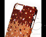Gradation Bling Swarovski Crystal Unusual iPhone 8 Cases - Gold