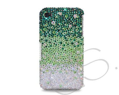 Gradation Bling Swarovski Crystal iPhone 8 Plus Covers - Green