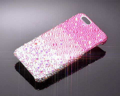 Gradation Bling Swarovski Crystal iPhone X Covers - Pink