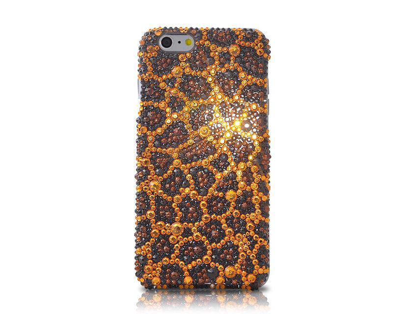 Leopardo Bling Swarovski Crystal iPhone Xs Max Cases - Brown