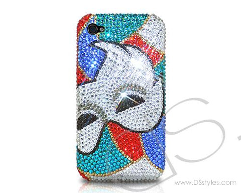 Clown Mask Bling Swarovski Crystal Phone Cases
