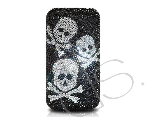 Skull Three Bling Swarovski Crystal Phone Cases