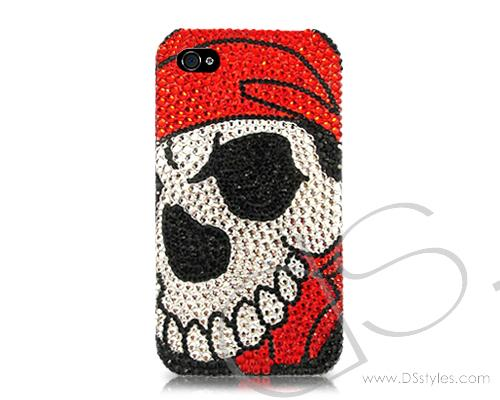 Skull Face BBling Swarovski Crystal Phone Cases