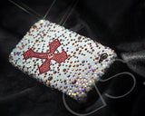 Cross Bling Swarovski Crystal Phone Cases - White