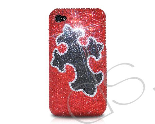 Cross Bling Swarovski Crystal Phone Cases - Red