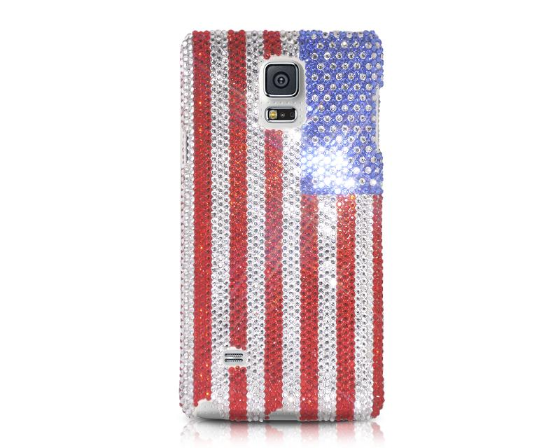 National Series Bling Swarovski Crystal Phone Cases - USA