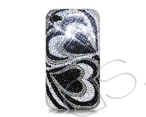 Fancy Love Bling Swarovski Crystal Phone Cases - Duo Hearts