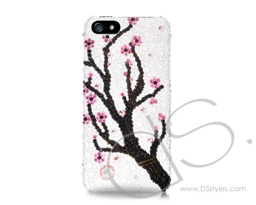 Plum Flower Bling Swarovski Crystal Phone Cases