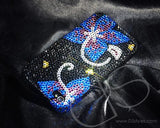 Symmetry Bling Swarovski Crystal Phone Cases- Black Blue