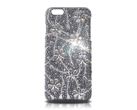Dark Snowflake Bling Swarovski Crystal iPhone 12 Cases