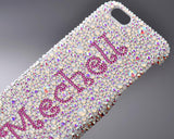 Personalized Cartas Butterfly Bling Swarovski Crystal Phone Cases