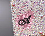 Personalized Plain Fancy Love Bling Swarovski Crystal Phone Cases