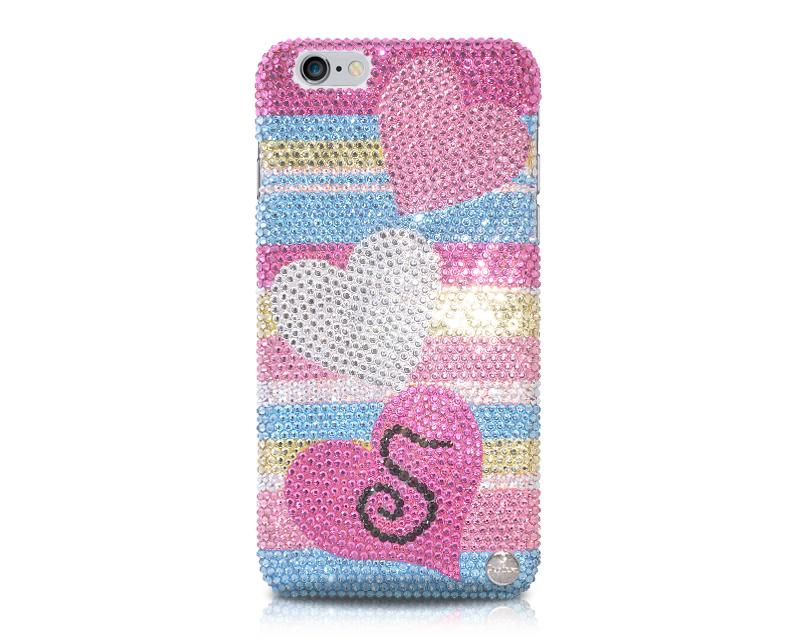 Personalized Fancy Love Bling Swarovski Crystal Phone Cases