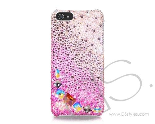 Gradation Bling Swarovski Crystal Luxury iphone 8 case - Diamond Pink