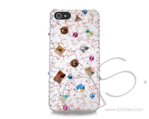 Disperse Bling Swarovski Crystal Phone Cases - Silver