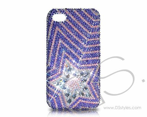 Multi Stars Bling Swarovski Crystal Phone Cases - Purple