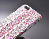 Cubic Stitching Pink Bling Swarovski Crystal Phone Cases