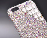 Cubic Symmetric Bling Swarovski Crystal Phone Cases - Silver