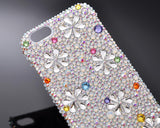 Petal Drops Bling Swarovski Crystal Phone Cases - Silver