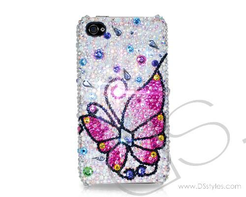 Butterfly Fantasy Bling Swarovski Crystal Phone Cases - Pink