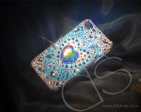 Fancy Love Bling Swarovski Crystal Phone Cases - Cubic Silver