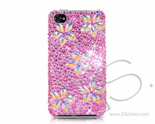 Petal Drops Bling Swarovski Crystal Phone Cases - Pink