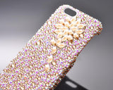 Diamond Flower Bling Swarovski Crystal Phone Cases - Gold