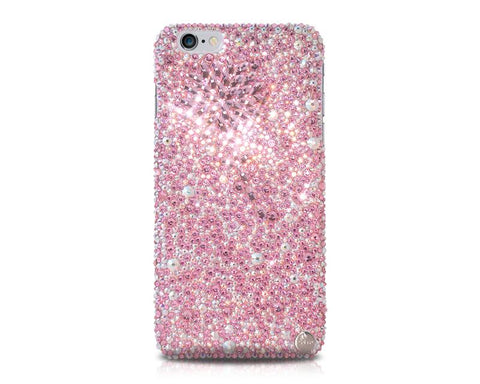 Diamond Flower Bling Swarovski Crystal iPhone 12 Cases - Pink
