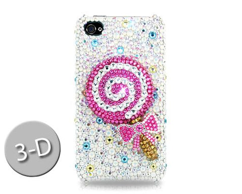Lollipop Bling Swarovski Crystal Phone Cases - Pink