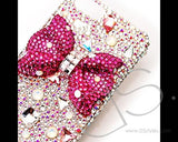 Ribbon Bow Bling Swarovski Crystal Phone Cases - Shiny Pink