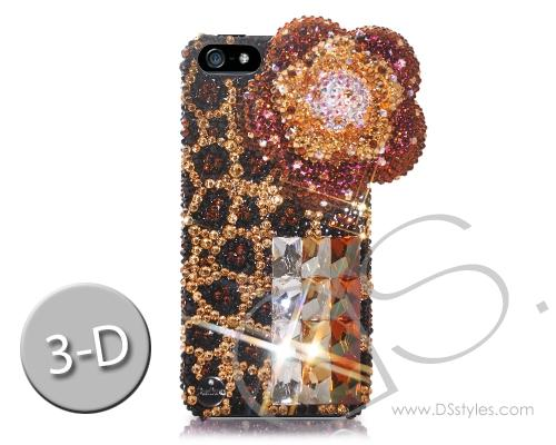 Butterfly Floral Bling Swarovski Crystal Phone Cases - Brown