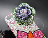 Butterfly Floral Bling Swarovski Crystal Phone Cases - Green