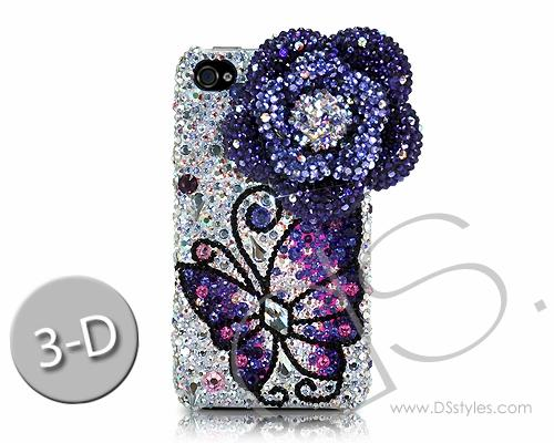 Butterfly Fantasy Bling Swarovski Crystal Phone Cases - Purple