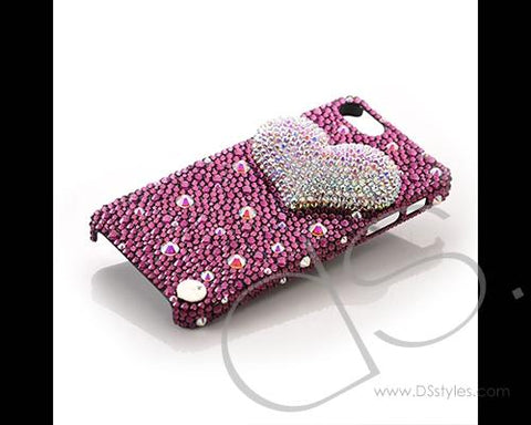 Fancy Love Bling Swarovski Crystal Phone Cases - Purple