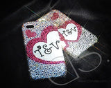 Fancy Love Bling Swarovski Crystal Phone Cases - Love Set