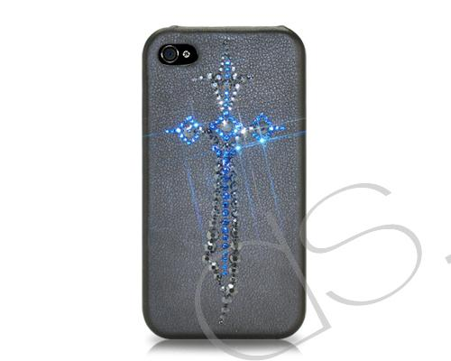 Blue Sword Bling Swarovski Crystal Phone Cases