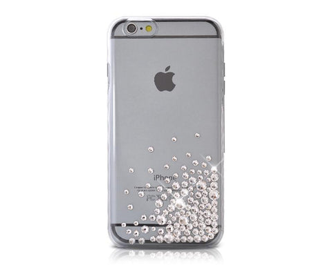 Rubble Bubble Bling Swarovski Crystal Phone Cases - Transparent Silver