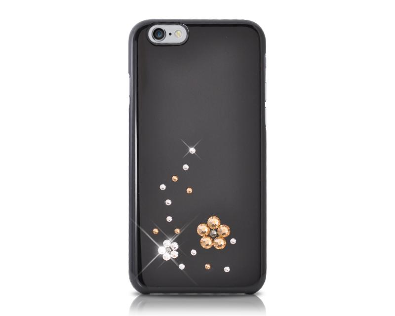 Floral Bling Swarovski Crystal Phone Cases - Gold
