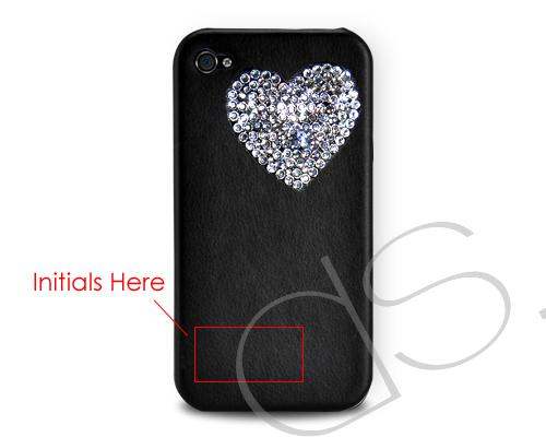Personalized  Love Heart Bling Swarovski Crystal Phone Cases