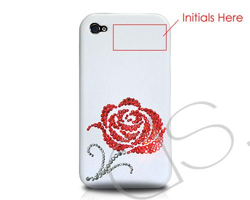 Rosaceae Bling Swarovski Crystal Phone Cases - Red