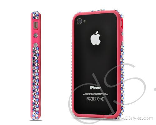 Bumper Bling Swarovski Crystal Phone Cases - Pink
