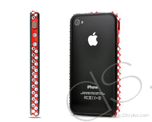 Bumper Bling Swarovski Crystal Phone Cases - Red