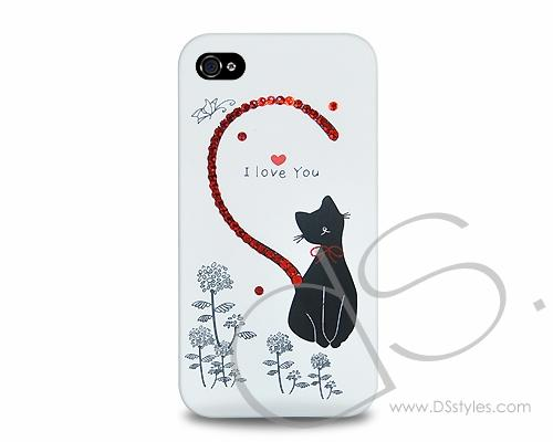Love Bling Swarovski Crystal Phone Cases - Red (I Love You)
