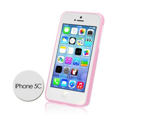 Bumper Series iPhone 5C Case - Pink White