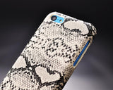 Python Series iPhone 5C Leather Case - White