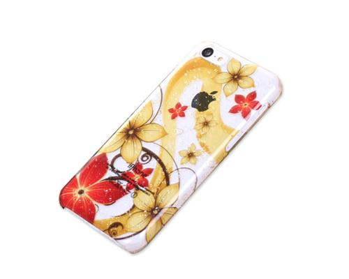 3D Raindrop Series iPhone 5C Case - Yellow Flowers
