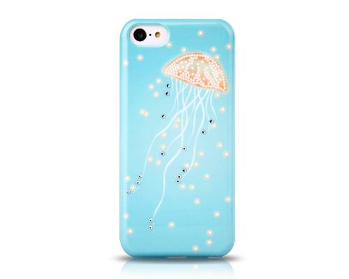 Noctilucent Series iPhone 5C Crystal Case - Jellyfish