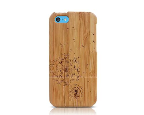 Genuine Wood Series iPhone 5C Case - Dandelion